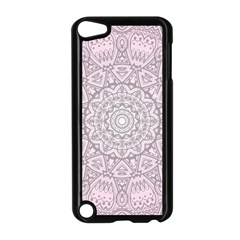 Pink Mandala art  Apple iPod Touch 5 Case (Black)