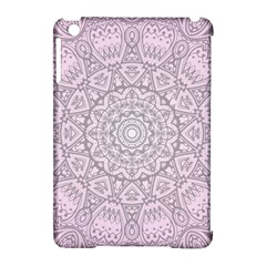 Pink Mandala art  Apple iPad Mini Hardshell Case (Compatible with Smart Cover)