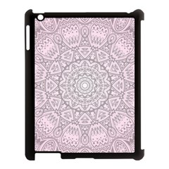 Pink Mandala art  Apple iPad 3/4 Case (Black)