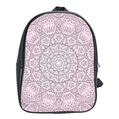 Pink Mandala art  School Bag (XL)