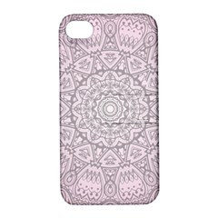 Pink Mandala Art  Apple Iphone 4/4s Hardshell Case With Stand by paulaoliveiradesign