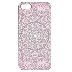 Pink Mandala Art  Apple Iphone 5 Hardshell Case With Stand by paulaoliveiradesign