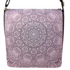 Pink Mandala art  Flap Messenger Bag (S)