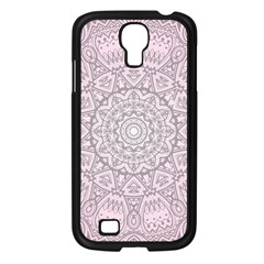 Pink Mandala Art  Samsung Galaxy S4 I9500/ I9505 Case (black) by paulaoliveiradesign