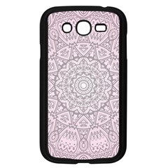 Pink Mandala Art  Samsung Galaxy Grand Duos I9082 Case (black) by paulaoliveiradesign