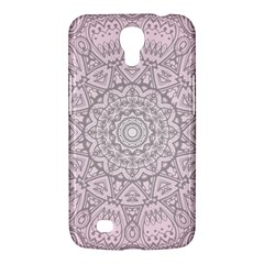 Pink Mandala Art  Samsung Galaxy Mega 6 3  I9200 Hardshell Case by paulaoliveiradesign