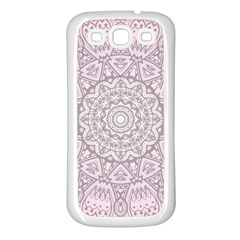 Pink Mandala art  Samsung Galaxy S3 Back Case (White)