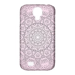 Pink Mandala Art  Samsung Galaxy S4 Classic Hardshell Case (pc+silicone) by paulaoliveiradesign