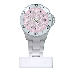 Pink Mandala art  Plastic Nurses Watch