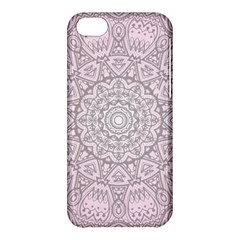 Pink Mandala Art  Apple Iphone 5c Hardshell Case by paulaoliveiradesign