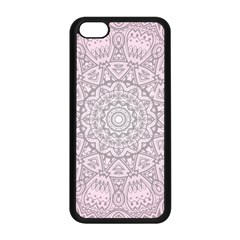 Pink Mandala Art  Apple Iphone 5c Seamless Case (black) by paulaoliveiradesign