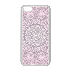 Pink Mandala art  Apple iPhone 5C Seamless Case (White)
