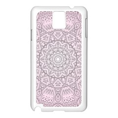 Pink Mandala Art  Samsung Galaxy Note 3 N9005 Case (white) by paulaoliveiradesign