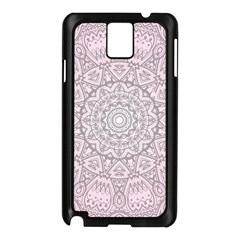 Pink Mandala Art  Samsung Galaxy Note 3 N9005 Case (black) by paulaoliveiradesign