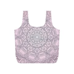 Pink Mandala art  Full Print Recycle Bags (S)