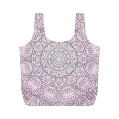 Pink Mandala art  Full Print Recycle Bags (M)