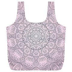Pink Mandala art  Full Print Recycle Bags (L)