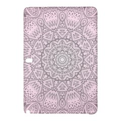 Pink Mandala Art  Samsung Galaxy Tab Pro 10 1 Hardshell Case by paulaoliveiradesign