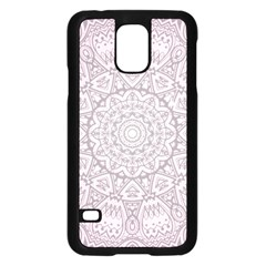 Pink Mandala art  Samsung Galaxy S5 Case (Black)