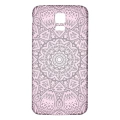 Pink Mandala Art  Samsung Galaxy S5 Back Case (white) by paulaoliveiradesign