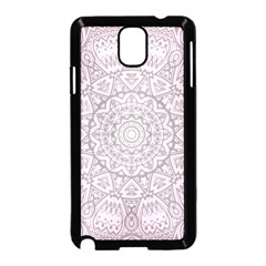 Pink Mandala Art  Samsung Galaxy Note 3 Neo Hardshell Case (black) by paulaoliveiradesign