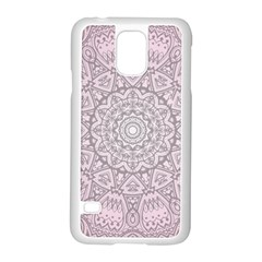 Pink Mandala Art  Samsung Galaxy S5 Case (white) by paulaoliveiradesign
