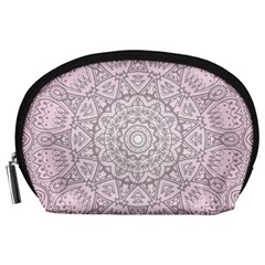 Pink Mandala art  Accessory Pouches (Large)
