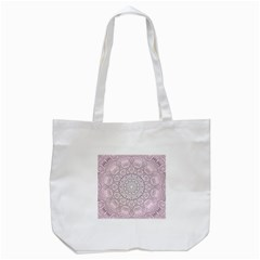 Pink Mandala art  Tote Bag (White)