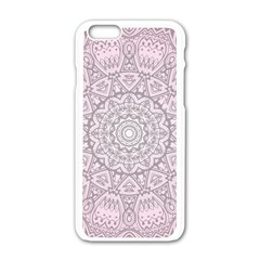Pink Mandala art  Apple iPhone 6/6S White Enamel Case