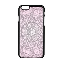 Pink Mandala art  Apple iPhone 6/6S Black Enamel Case