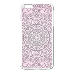 Pink Mandala art  Apple iPhone 6 Plus/6S Plus Enamel White Case