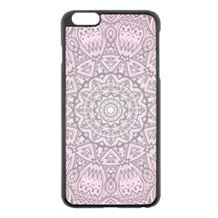 Pink Mandala art  Apple iPhone 6 Plus/6S Plus Black Enamel Case