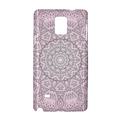 Pink Mandala Art  Samsung Galaxy Note 4 Hardshell Case by paulaoliveiradesign