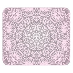 Pink Mandala Art  Double Sided Flano Blanket (small)  by paulaoliveiradesign