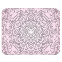 Pink Mandala art  Double Sided Flano Blanket (Medium)