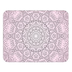 Pink Mandala art  Double Sided Flano Blanket (Large)