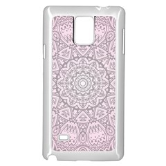 Pink Mandala art  Samsung Galaxy Note 4 Case (White)