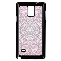 Pink Mandala Art  Samsung Galaxy Note 4 Case (black) by paulaoliveiradesign