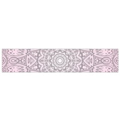 Pink Mandala Art  Flano Scarf (small) by paulaoliveiradesign