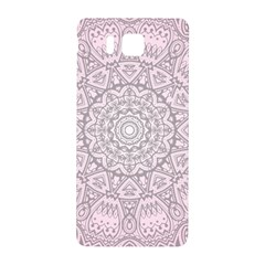 Pink Mandala Art  Samsung Galaxy Alpha Hardshell Back Case by paulaoliveiradesign
