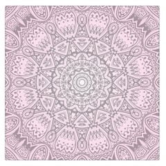 Pink Mandala art  Large Satin Scarf (Square)