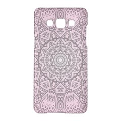 Pink Mandala Art  Samsung Galaxy A5 Hardshell Case  by paulaoliveiradesign