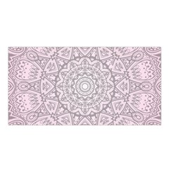 Pink Mandala art  Satin Shawl