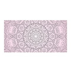 Pink Mandala art  Satin Wrap