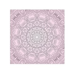 Pink Mandala art  Small Satin Scarf (Square)