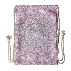 Pink Mandala art  Drawstring Bag (Large)