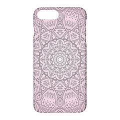 Pink Mandala Art  Apple Iphone 7 Plus Hardshell Case by paulaoliveiradesign