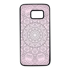 Pink Mandala art  Samsung Galaxy S7 Black Seamless Case