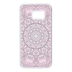 Pink Mandala Art  Samsung Galaxy S7 White Seamless Case by paulaoliveiradesign