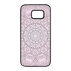 Pink Mandala Art  Samsung Galaxy S7 Edge Black Seamless Case by paulaoliveiradesign